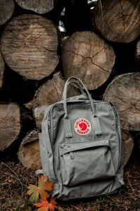 backpack in the forest