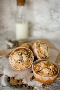 Muffins styled food photography