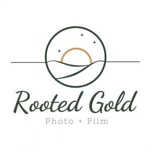 Rooted gold brand logo