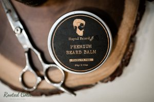beard balm product photography