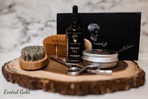 beard oil product photography