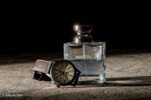 SQIBB cologne and watch product photography