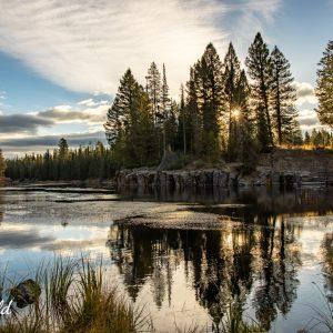 River confluence in Island Park, Idaho
